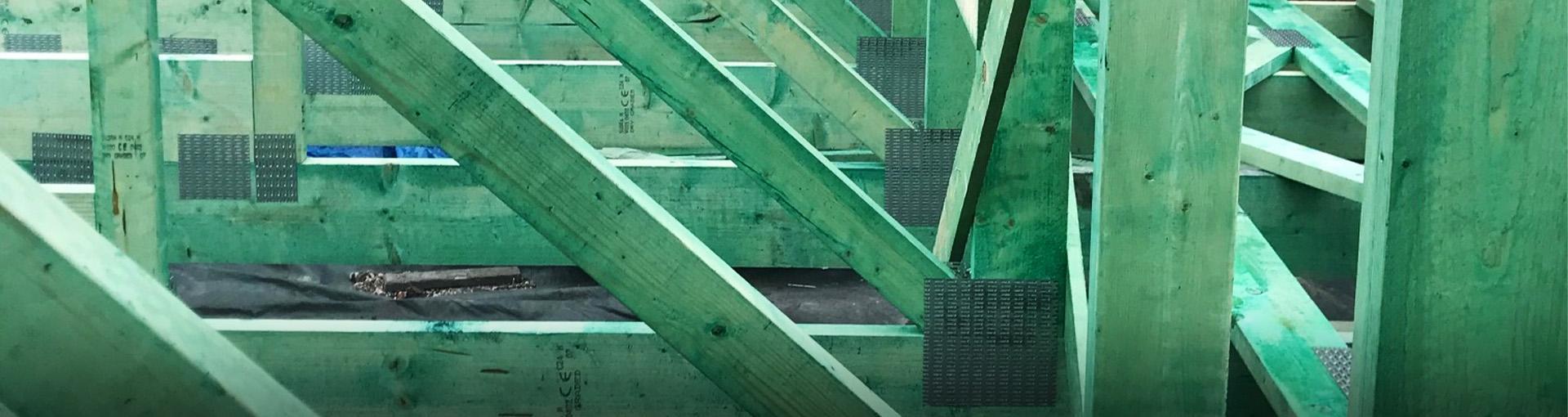 szkielet budowy domu - Baner